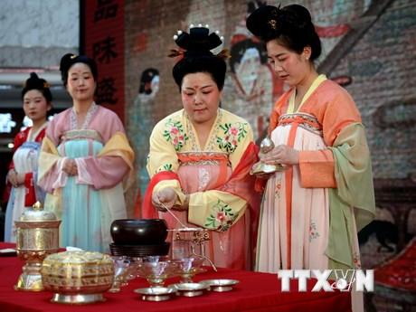 [Photo] Cận cảnh nghệ thuật trà đạo đời Đường của Trung Quốc