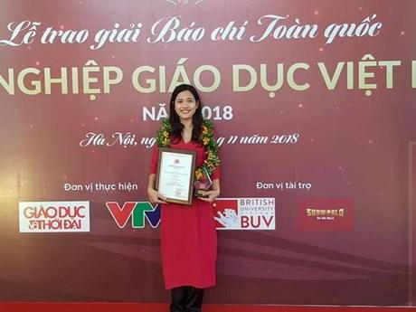 VietnamPlus đoạt giải báo chí ''Vì sự nghiệp Giáo dục Việt Nam''