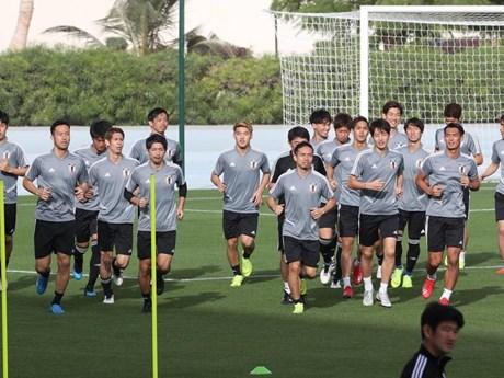 Cận cảnh tuyển Nhật Bản tập luyện chuẩn bị đối đầu Việt Nam