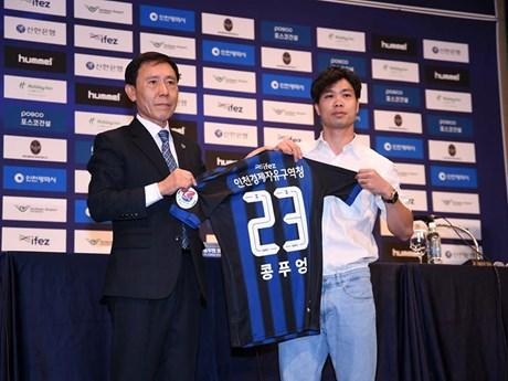 Cận cảnh Công Phượng chính thức ra mắt CLB Incheon United