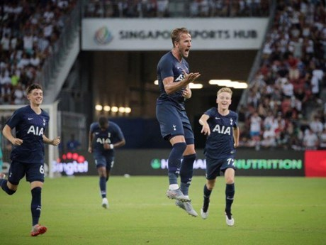 Kane lập siêu phẩm từ giữa sân, Tottenham thắng kịch tính Juventus   Bóng đá   Vietnam+ (VietnamPlus)