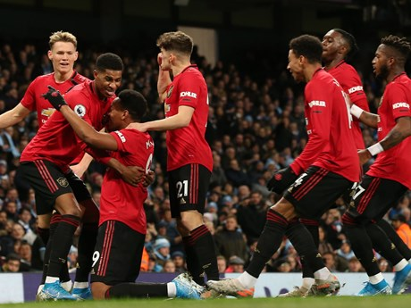 Manchester United khiến Manchester City ôm hận trên sân nhà | Bóng đá | Vietnam+ (VietnamPlus)