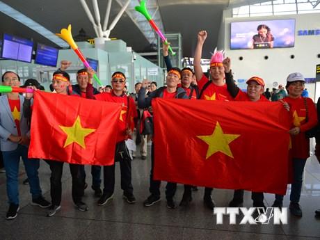 Nhiều cổ động viên sang Philippines cổ vũ đội tuyển U22 Việt Nam | Bóng đá | Vietnam+ (VietnamPlus)