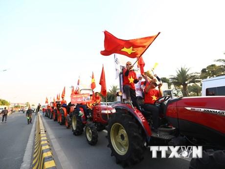 Người hâm mộ Thủ đô đón đoàn Thể thao Việt Nam dự SEA Games trở về | Bóng đá | Vietnam+ (VietnamPlus) - kết quả xổ số tiền giang