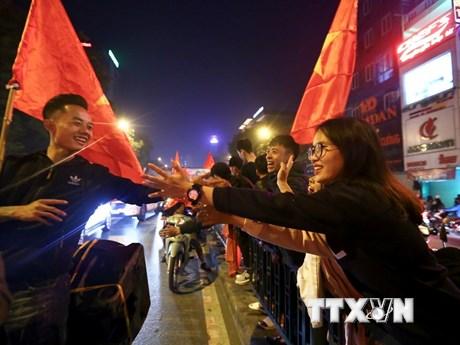 CĐV Việt Nam nếm trải hương vị vô địch SEA Games sau hàng thập kỷ | Bóng đá | Vietnam+ (VietnamPlus) - kết quả xổ số tiền giang