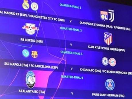 Bốc thăm Tứ kết C1: Barca, Juve gặp đối thủ khó nhằn | Bóng đá | Vietnam+ (VietnamPlus)