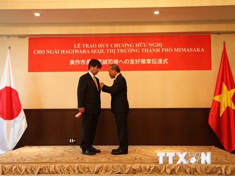 Thị trưởng Nhật Bản được tặng thưởng Huy chương Hữu nghị của Việt Nam