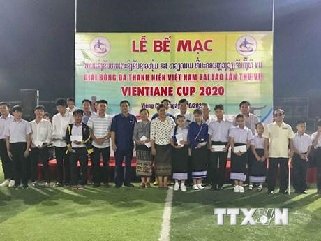 Bế mạc giải bóng đá thanh niên Việt Nam tại Lào lần thứ 7