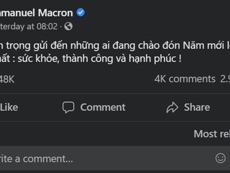 Lãnh đạo nhiều nước gửi lời chúc Tết Nguyên đán bằng tiếng Việt