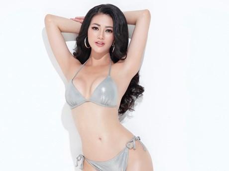 Vòng eo đầy mê hoặc của đại diện nhan sắc Việt tại Miss Earh 2018