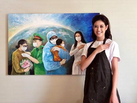Bức ảnh của phóng viên TTXVN truyền cảm hứng cho Hoa hậu Khánh Vân