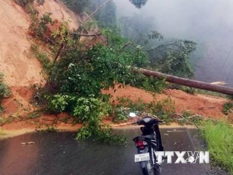 Hình ảnh các điểm sạt lở nghiêm trọng tại khu vực biên giới Việt-Lào