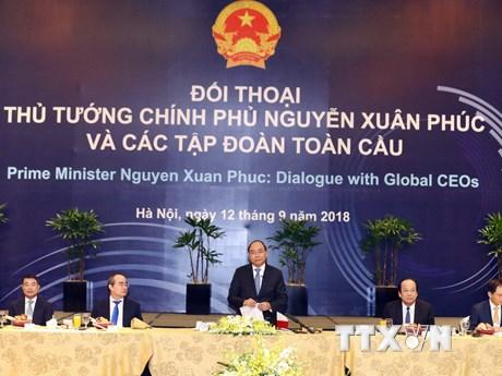 Hình ảnh Thủ tướng Việt Nam làm việc với một số CEO tập đoàn hàng đầu