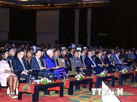 Hình ảnh Thủ tướng dự phiên khai mạc Hội nghị thường niên IMF-WB