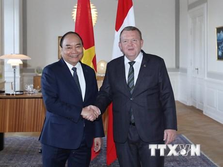 Hình ảnh Thủ tướng Nguyễn Xuân Phúc hội đàm với Thủ tướng Đan Mạch