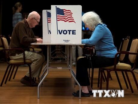 Hình ảnh cử tri Mỹ bỏ phiếu bầu cử Quốc hội giữa nhiệm kỳ