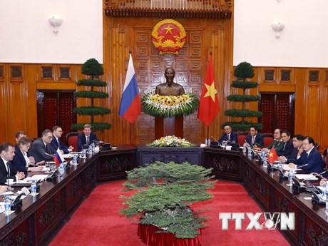 Thủ tướng Nguyễn Xuân Phúc hội đàm với Thủ tướng Nga Dmitry Medvedev