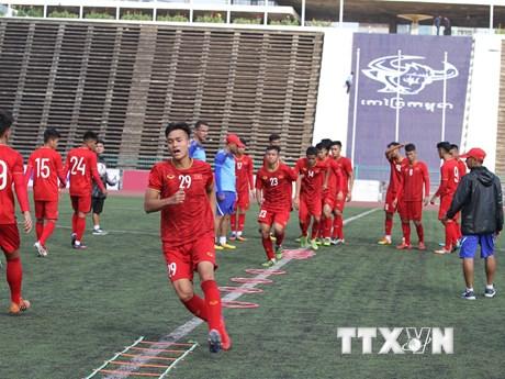 Đội tuyển U22 Việt Nam sẵn sàng trước trận gặp U22 Philippines