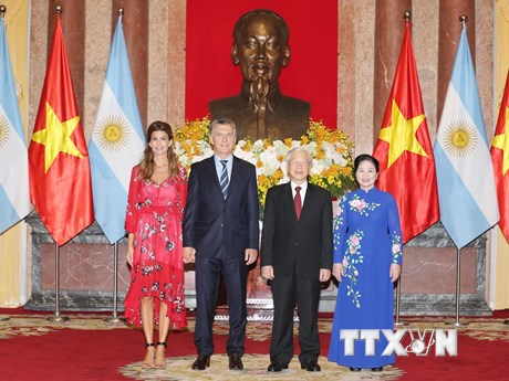 Tổng Bí thư, Chủ tịch nước chủ trì lễ đón Tổng thống Argentina