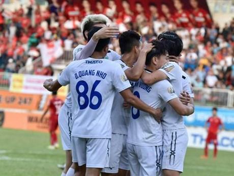 Hoàng Anh Gia Lai giành chiến thắng thuyết phục 5-1 trước Hải Phòng | Bóng đá | Vietnam+ (VietnamPlus)
