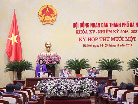 HĐND thành phố Hà Nội quyết nghị nhiều nội dung quan trọng | Xã hội | Vietnam+ (VietnamPlus)