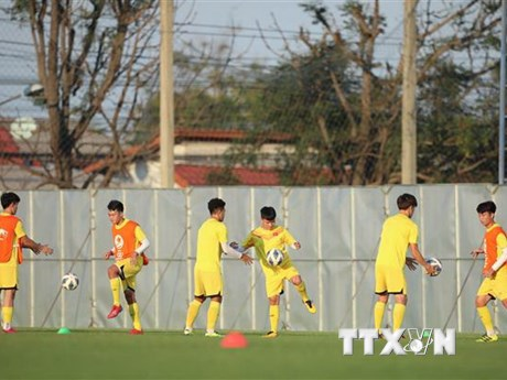 Trung vệ Việt Anh gặp chấn thương trước trận ra quân của U23 Việt Nam | Bóng đá | Vietnam+ (VietnamPlus)