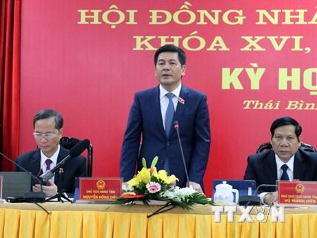 Kỳ họp bất thường HĐND tỉnh Thái Bình thông qua nhiều nghị quyết | Chính trị | Vietnam+ (VietnamPlus) - xổ số ngày 07122019