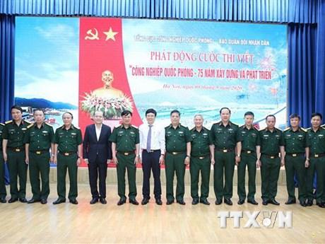 Thi viết về 75 năm xây dựng và phát triển công nghiệp quốc phòng   Truyền thông   Vietnam+ (VietnamPlus)