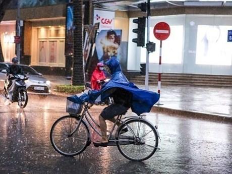 Bắc Bộ mưa dông diện rộng, nguy cơ xảy ra mưa đá và gió giật mạnh