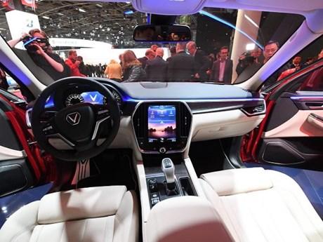 Hình ảnh nội thất xe hơi VinFast được trưng bày tại Paris Motor Show