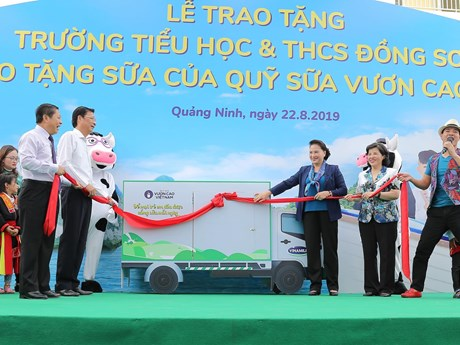 Trẻ em Quảng Ninh đón nhận ngôi trường mới và hơn 71 ngàn ly sữa