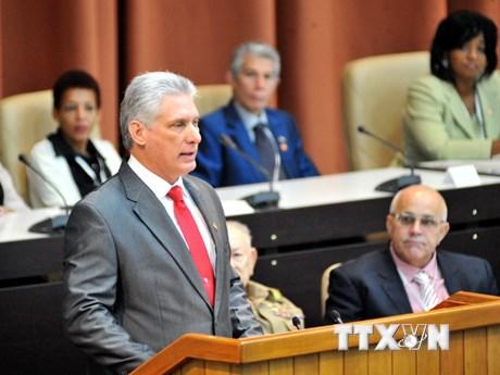 [Photo] Ông Miguel Díaz-Canel giữ chức Chủ tịch Hội đồng Nhà nước Cuba