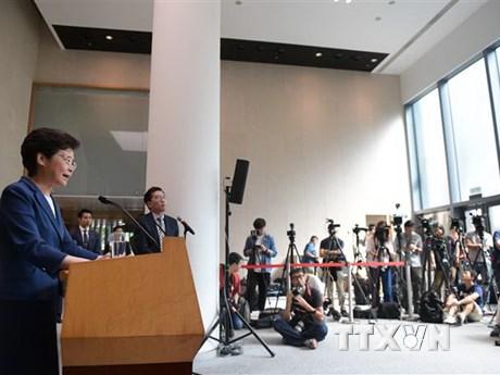 Hong Kong chính thức hủy bỏ dự luật dẫn độ gây tranh cãi | Châu Á-TBD | Vietnam+ (VietnamPlus)