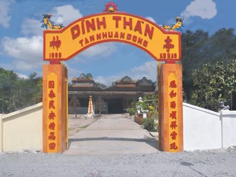 Đồng Tháp: Xếp hạng quốc gia di tích kiến trúc đình Tân Nhuận Đông