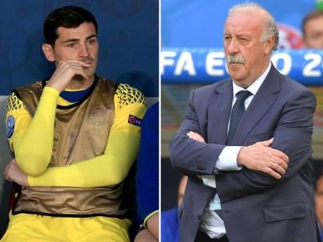Huấn luyện viên Vicente del Bosque và Casillas dàn hòa
