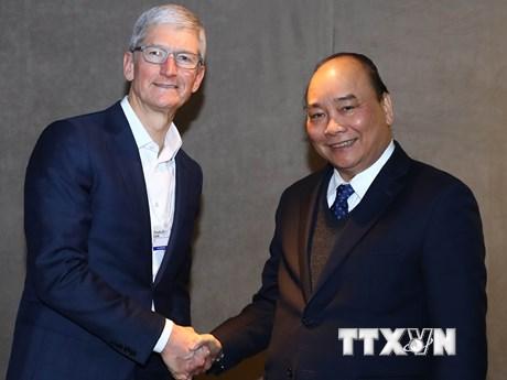 Thủ tướng mong muốn tập đoàn Apple đầu tư vào Việt Nam