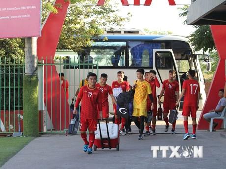 Hình ảnh U22 Việt Nam tập luyện trước trận gặp Timor Leste