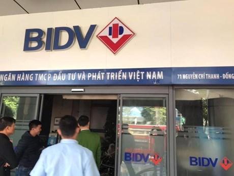 Hà Nội: Cháy tại ngân hàng BIDV Nguyễn Chí Thanh | Xã hội | Vietnam+ (VietnamPlus)