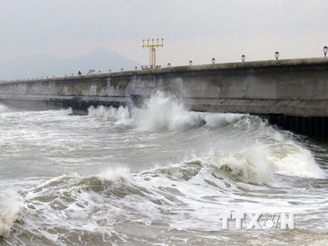Phú Yên: Tàu cá của ngư dân bị sóng đánh chìm, 2 người mất tích | Xã hội | Vietnam+ (VietnamPlus)