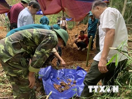 Thông tin kết quả khai quật khu vực an táng 13 liệt sỹ ở Bắc Kạn