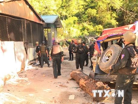 [Photo] Hình ảnh cuộc vây bắt gay cấn trùm ma túy tại Lóng Luông