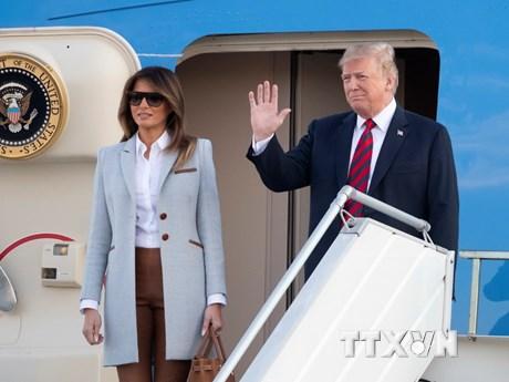 Những hình ảnh đầu tiên của Tổng thống Donald Trump tại Helsinki