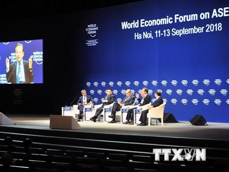 Hình ảnh các phiên họp báo và thảo luận trong khuôn khổ WEF ASEAN 2018