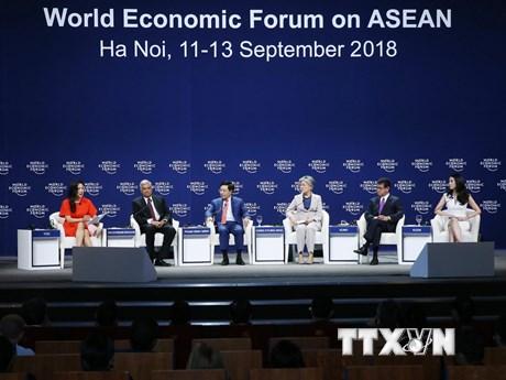 WEF ASEAN: Hình ảnh phiên thảo luận và buổi đàm luận sáng 13/9