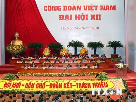Hình ảnh Khai mạc Đại hội Công đoàn Việt Nam lần thứ XII