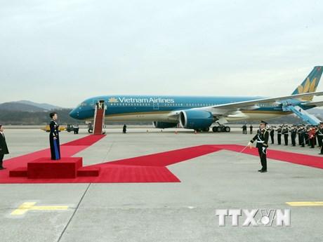 Hình ảnh Chủ tịch Quốc hội Nguyễn Thị Kim Ngân đến thủ đô Seoul