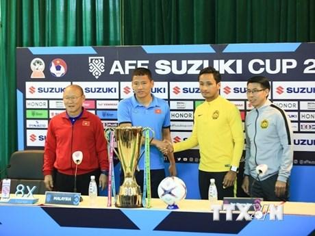 Hình ảnh buổi họp báo trước trận chung kết lượt về AFF Cup