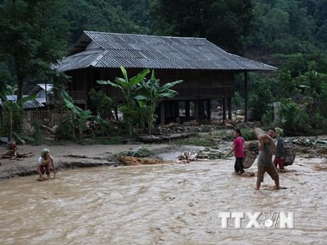 Vùng núi Bắc Bộ mưa lớn, đề phòng lũ quét, sạt lở đất và ngập úng   Môi trường   Vietnam+ (VietnamPlus)