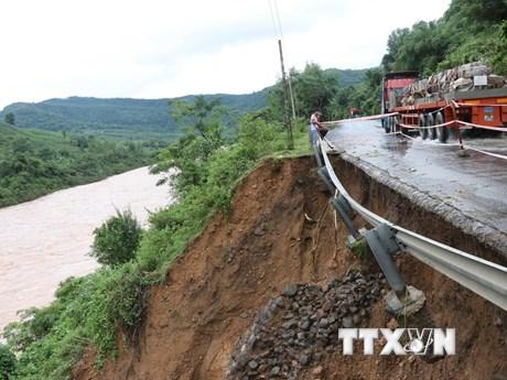 Nam Trung Bộ mưa to, cảnh báo lũ quét và sạt lở đất ở Quảng Ngãi  | Môi trường | Vietnam+ (VietnamPlus)
