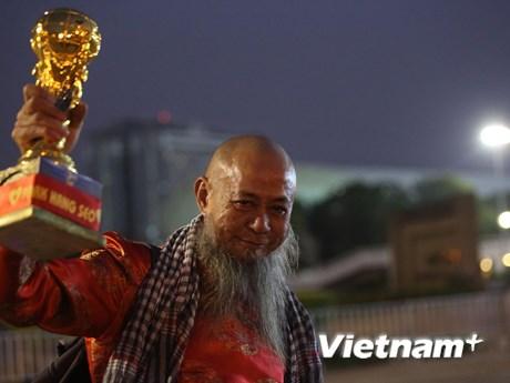 Cổ động viên hâm nóng trận đấu U23 Việt Nam-U23 Triều Tiên   Bóng đá   Vietnam+ (VietnamPlus)